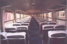 Interior of a black-red Pullman. Note that all of them do not have the same interior. 2001. Photo Gökçe Aydin.