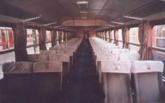 Interior of a black-red Pullman. . 2001. Photo Gökçe Aydin.