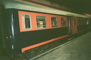 Another type of regional car for suburban train operating between Alsancak-Buca. This car maximum speed is 100 km/h. . 2001. Photo Gökçe Aydin.