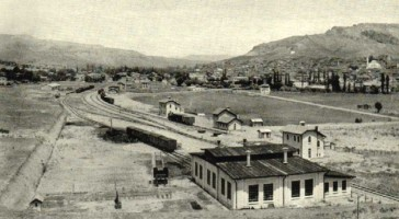 Cankiri station in 1934, just after the end of the construction works. 1934. Picture Nohab