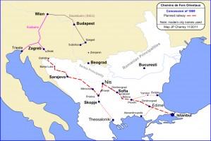 Chemins de Fer Orientaux: 1869 concession