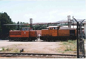 Private locos at Kirikale. 1999 Photo Malcolm Peakman