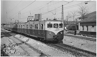 E8000 in Yedikule, April 1956. New technology, new EMU, new catenary. Photo A. Swale