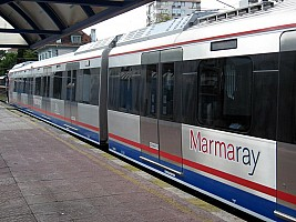 Marmaray stock on suburban service at Bostanci Station 19 August 2012
