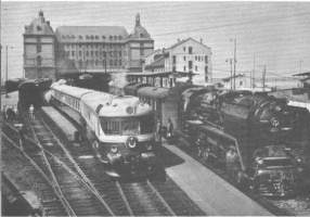 Boğaziçi Express in 1966 at Haydarpasa station