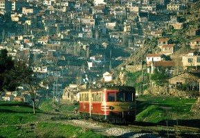 MT5400 and a trailer heading south through the Izmir suburbs. 6th March 1977. Photo Robin Lush