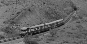 Mototren Ankara Adana Express near Ciftehan, 1974.