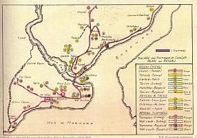 Istanbul tram map 1920