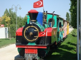 Children railway in Sazova park, september 2011. Photo M. Tekin