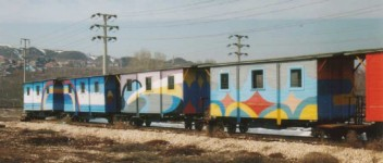 The OGÜ railway spare cars.January 2002. Photo JP Charrey