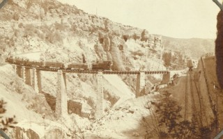 Another unique view: the temporary narrow gauge bridge build near Haikiri. Col. Gunter Hartnagel