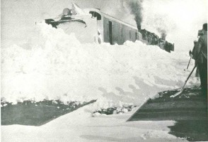 Snowplow at work somewhere along the Erzurum line in the 1930's.