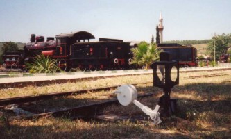 The museum utilizes much of the track work of the former station. Photo JP Charrey