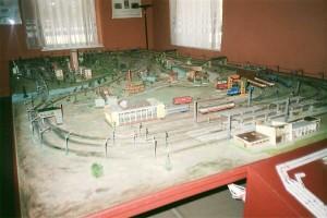 The HO model layout displayed inside the museum. Photo Gökçe Aydin