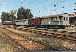 Toprakkale Yard. The end vehicle's build plate proclaimed 100 years of service! the body might have been rebuilt). Photo Malcolm Peakman 1998.