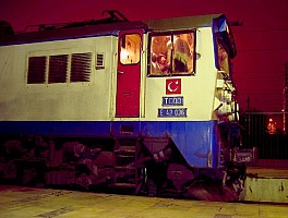 E43036 cabside, 2-12-2004, Ankara Station. Photo & copyright Graham Williams