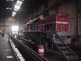 DE22000 being serviced. October 2002 Photo Derya Ferendeci
