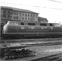V200 005 send to Turkey as a test unit. Photographed in Sirkeci in May 1955. Photo A Swale