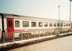 TVS2000 pullman cars attached to Cukurova Mavi Treni at Adana station. 2001. Photo Gökçe Aydin.
