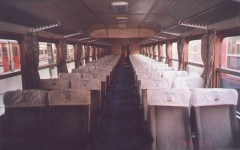 Interior of a black-red Pullman. . 2001. Photo Gökçe Aydin.