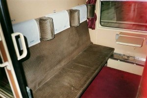 Couchette compartment in day position. 2001. Photo Gökçe Aydin.