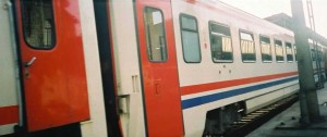 This train is sometimes equipped with TVS2000 compartment cars. 2001. Photo Gökçe Aydin.