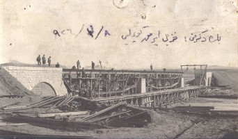 Construction of the bridge over the Kizilirmak river