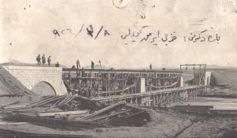 Construction of the bridge over the Kizilirmak river