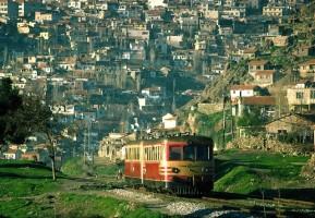 MT5400 and a trailer heading south through the Izmir suburbs. 6th March 1977. Photo Robin Lush