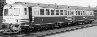 Railcar MT5411 and trailer MR404. Scan Eljas Pölhö