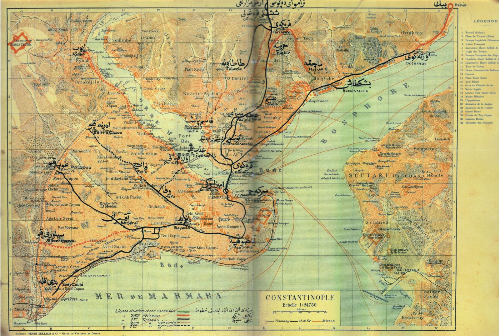 Istanbul tram map 1920 Trains of Turkey