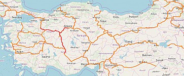 Screenshot of Openrailwaymap rendering of Turkey