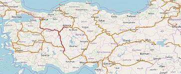 Screenshot of Openrailwaymap rendering of Turkey