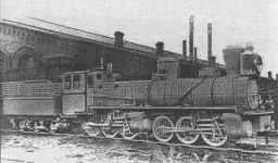 Mallet engine used by Yaroslavl - Arkhangelsk railway. Manufacturer: Putilov
