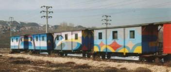 The OGÜ railway spare cars.January 2002. Photo JP Charrey