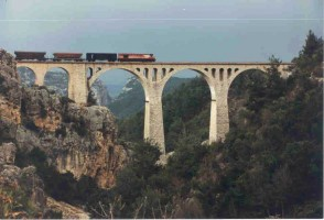 The big viaduct near Hacikiri, 1999. Photo Malcolm Peakman