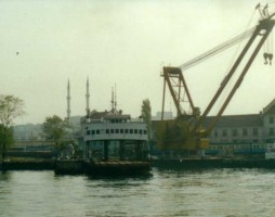 Demiryolu II seen at Haydarpasa from the Bosphorus. 3 november 2000. Photo JP Charrey