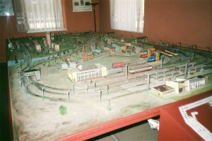 The HO model layout displayed inside the museum. Photo Gökçe Aydin