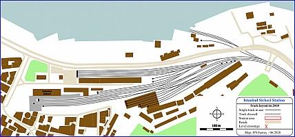 Istanbul Sirkeci Station track plan 2010