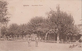 Adana MTA station. The station is small building and not very visible behind the trees. Col JP Charrey.