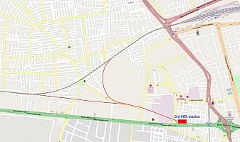 Adana MTA station location, next to modern Turhan Cemal Beriker Bulvarı