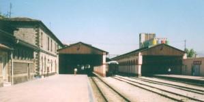 Alsancak station, platform side