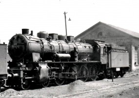 46008 outside Ankara Depot. 19th August 1955. Photo Alan Swale
