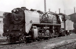 56015 outside Ankara Depot. 24th February 1956