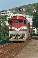 "DE22075 at Türkalı, near Zonguldak, 26 September 2001, 13h15. This unit has the ""blue line"" livery. Photo Stan Lelan, courtesy of Phil Wormald"