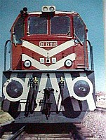 A font end view of DE24010 in its original livery. Scan Ergin Tönük