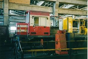 24217 during heavy overhaul at Ankara Demiryolu Fabrikasi. 4 Nov 2003. Photo JP Charrey